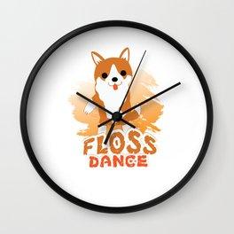 Floss Dance Move Corgi Wall Clock
