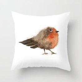 Fuzzy Bird Throw Pillow