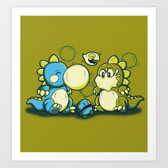BUBBLE JOKE Art Print