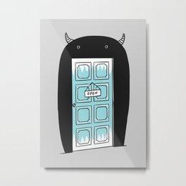 Monster door Metal Print
