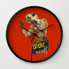 Pug Muay Thai Wall Clock