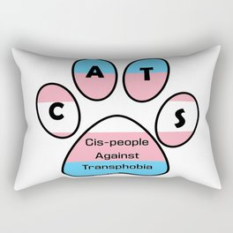 Cis-people Against Transphobia (CATS) Rectangular Pillow