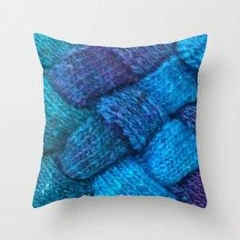 Blue Entrelac Throw Pillow