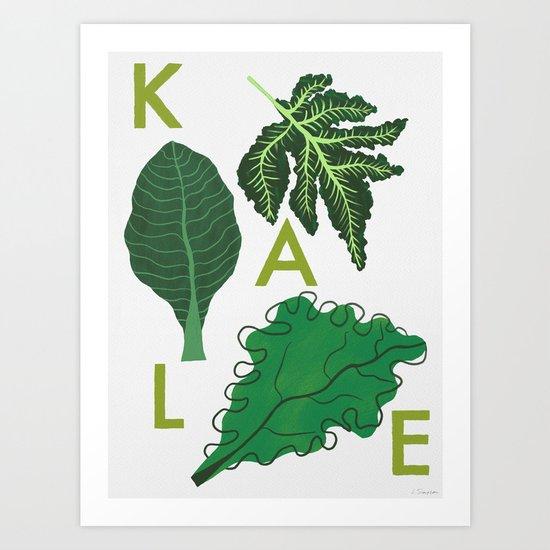 Eat Your Veggies - Kale by leannesimpsonart