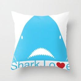 Shark Love Throw Pillow