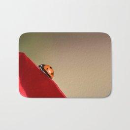 Ladybug on a Rose Bath Mat