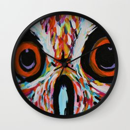 Electric Owl Eyes Wall Clock