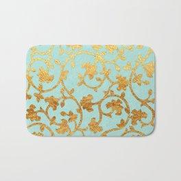 Golden Damask pattern Bath Mat