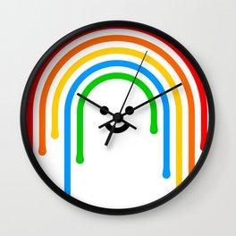 Drippy rainbow Wall Clock