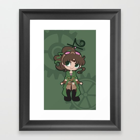 Steampunk Sailor Jupiter Framed Art Print