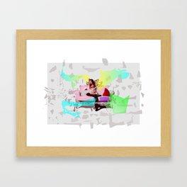Lady on Sofa Framed Art Print