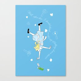 Alice down the Rabbit hole Canvas Print