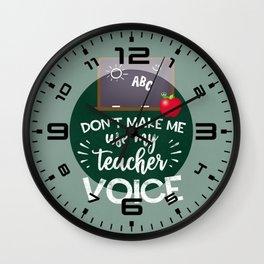 Teacher Voice Wall Clock