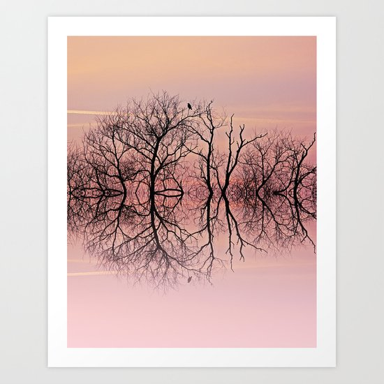 Candy skies Art Print