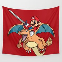 attack on titan Wall Tapestries featuring Mario Attack (parody) by franz
