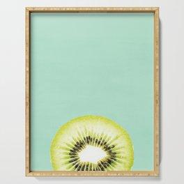 Kiwi, Fruit, Kitchen, Modern art, Tropical, Art, Minimal, Wall art Print Serving Tray