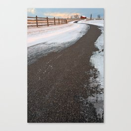 Winding Winter Road Canvas Print