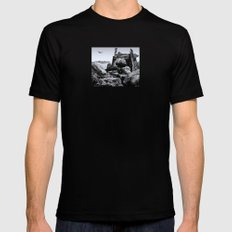 THE OUTPOST Black MEDIUM Mens Fitted Tee