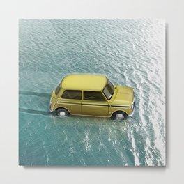 Mini on water Metal Print