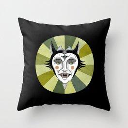 Cat Color Wheel No. 2 Throw Pillow