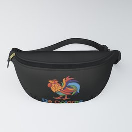"""DeColores """"in colors"""" Rooster (Dark) Fanny Pack"""
