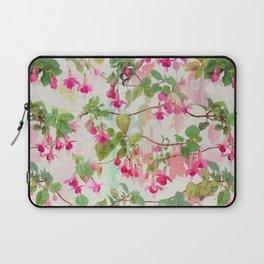 Rainbow Fuchsia Floral Pattern Laptop Sleeve