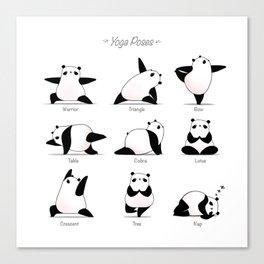 Yoga Panda II Canvas Print