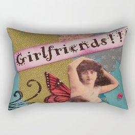 Fierce Fabulous Girlfriends, Friends, BFF, Mixed Media Rectangular Pillow