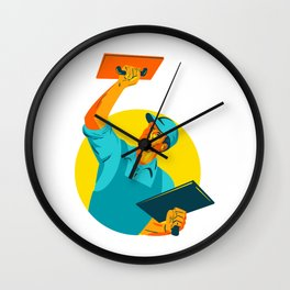 Plasterer Masonry Trowel WPA Wall Clock