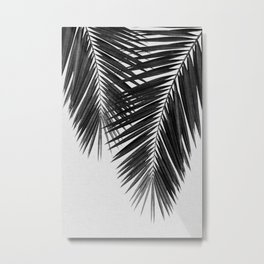Palm Leaf Black & White II Metal Print