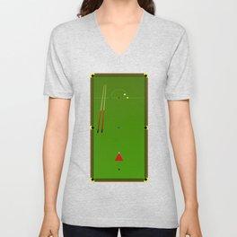 Snooker Cues Unisex V-Neck