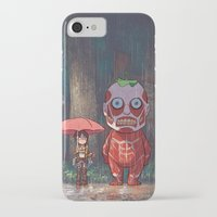 attack on titan iPhone & iPod Cases featuring My Neighbor Titan by Ron Chan