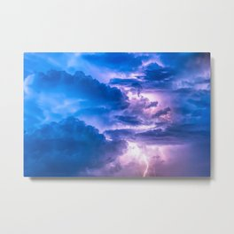 When Lightning Strikes Metal Print