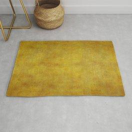 """""""Gold & Ocher Burlap Texture"""" Rug"""