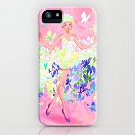 Butterflies dress petal pink iPhone Case