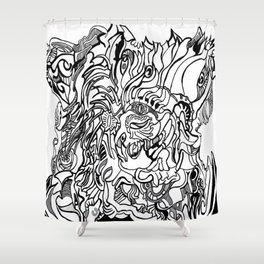 abstraction hallowed tree Shower Curtain