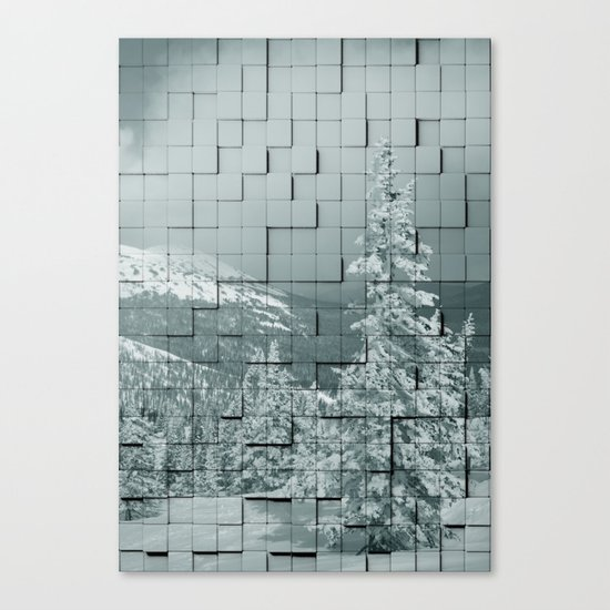 Winter collage Canvas Print