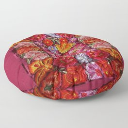 """""""Rose Huipil Embroidered"""" Floor Pillow"""