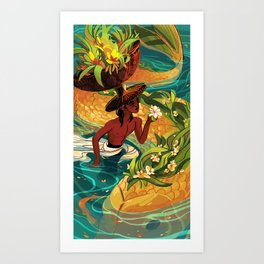 page of cups Art Print