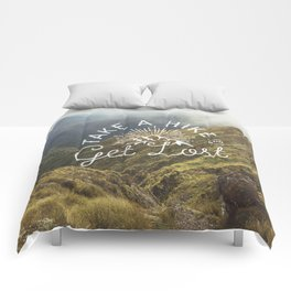 TAKE A HIKE and get lost Comforters