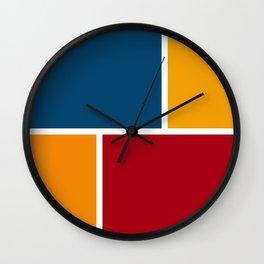 Block Stacks Wall Clock