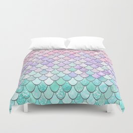 Cute Pretty Fun Girly Pattern, Ombre Pastel Pink, Purple, Teal Duvet Cover