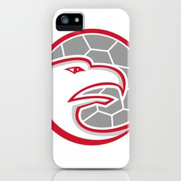 European Handball Eagle Mascot iPhone Case