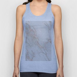 Marble Rose Gold Blush Pink Metallic by Nature Magick Unisex Tank Top