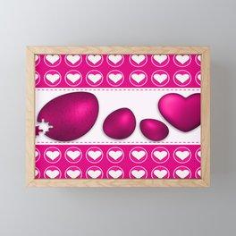 Love celebration easter hearts Framed Mini Art Print