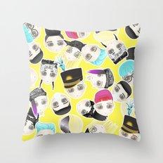 BIGBANG Collage (Yellow) Throw Pillow