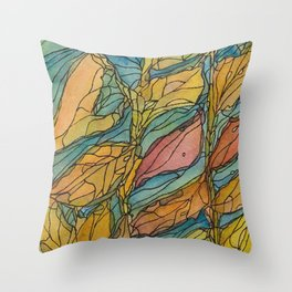 Eno River 23 (bottom portion) Throw Pillow
