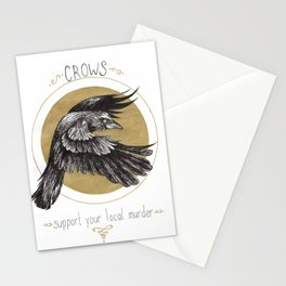 Support your local murder Stationery Cards