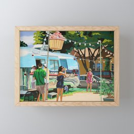 Hey Cupcake! Framed Mini Art Print