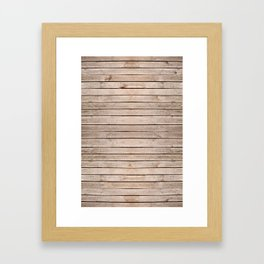Weathered boards texture abstract Framed Art Print
